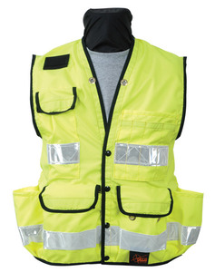 Seco 8069 Medium Safety Utility Vest Class 2 Fluorescent Yellow