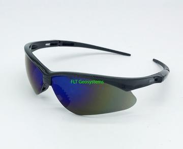 6cca32cb3142 Nemesis Black Frame Blue Mirror Lens Safety Glasses
