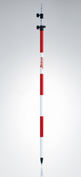 Leica GLS112 12 ft (3.6m) Telescopic Red/White Prism Pole