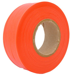 Orange Survey Flagging Tape Ribbon