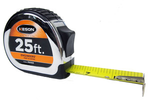 Keson PG1025 1' x 25 ft. Engineer's Power Tape