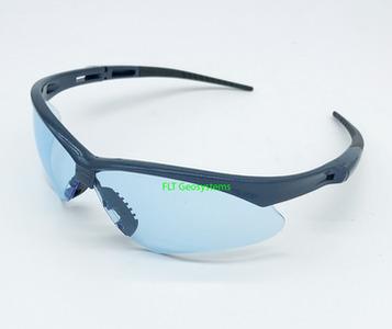 e70ce5354691 Nemesis Black Frame Light Blue Lens Safety Glasses.
