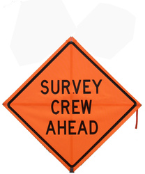 Bone Safety Mesh Roll-Up Survey Crew Ahead