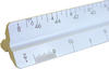 "Pacific Arc 92120 12"" White Architect Scale"