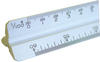 "Pacific Arc 92301 12"" White Metric Scale"