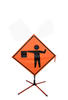 Bone Safety Mesh Roll-Up Flagger Symbol