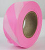 Pink Glo/White Striped Survey Flagging Tape Ribbon