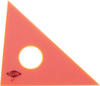 "ALVIN 131F-4 4"" fluorescent orange 45/90 drafting triangle"